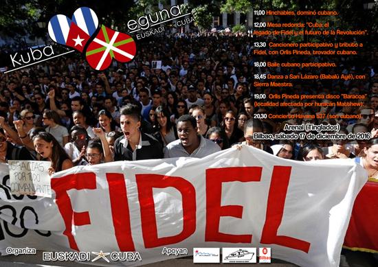Este sábado se celebra el Primer Kuba Eguna en Bilbao.