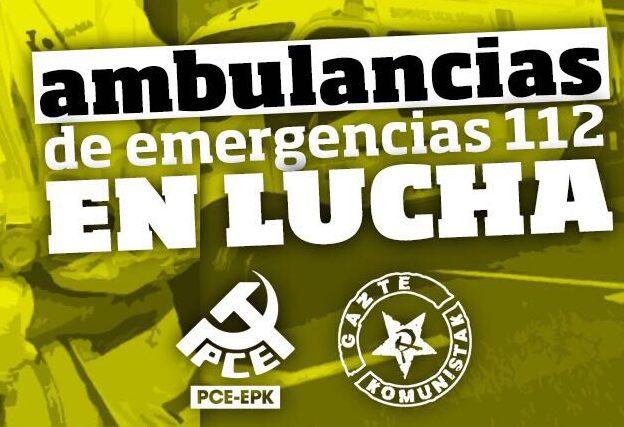 EPK y GK muestran su apoyo a la huelga de las ambulancias del 112