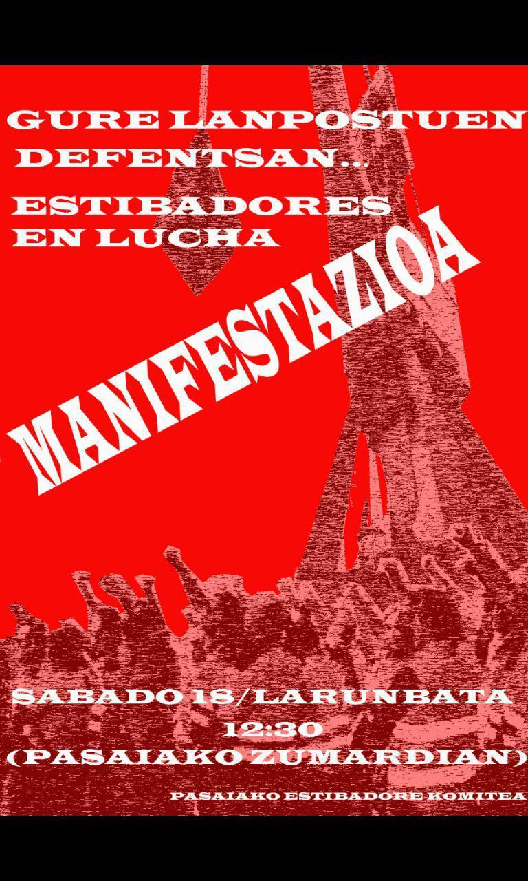 Movilizaciones en defensa de los derechos laborales de la Estiba