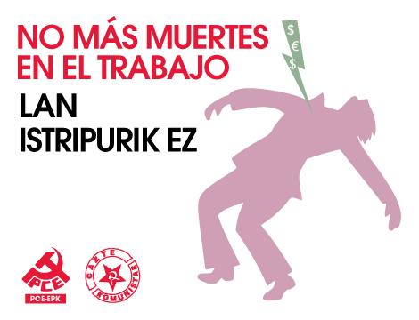 Lamentamos la muerte este miércoles de un trabajador en Aritzu (Navarra)