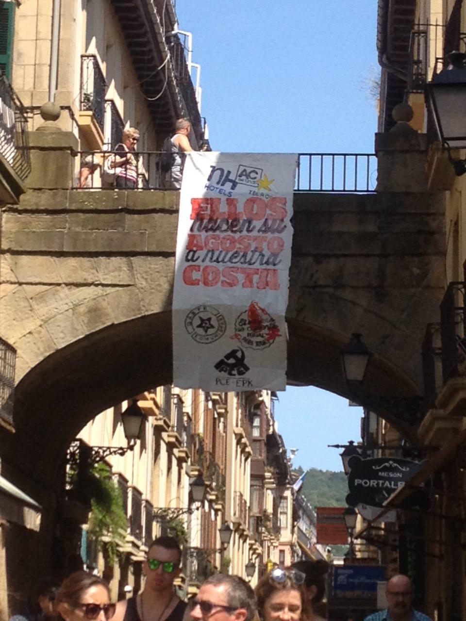 Denuncia de la precariedad y el machismo en Aste Nagusia de Donostia.