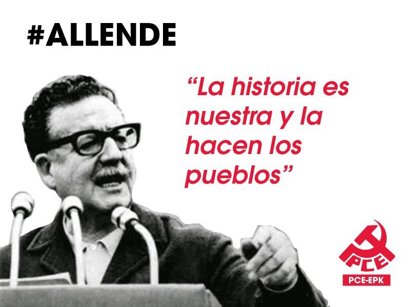 Recordamos a Allende en el 44 aniversario del golpe de estado de Pinochet