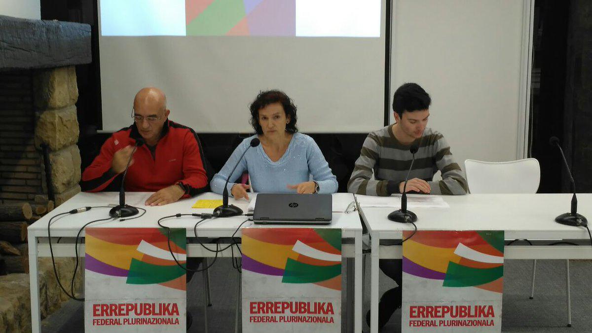 Organizaciones políticas de Euskadi realizarán una campaña por una República Federal