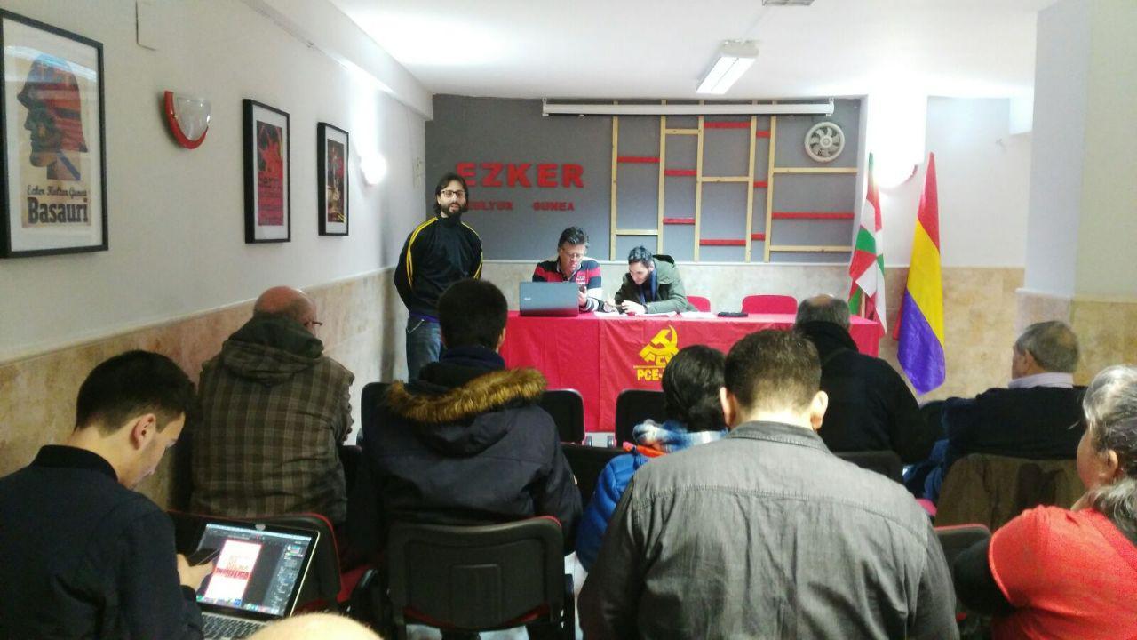 El Comité Nacional del PCE-EPK convoca el XV Congreso del Partido para el 10 de Marzo.