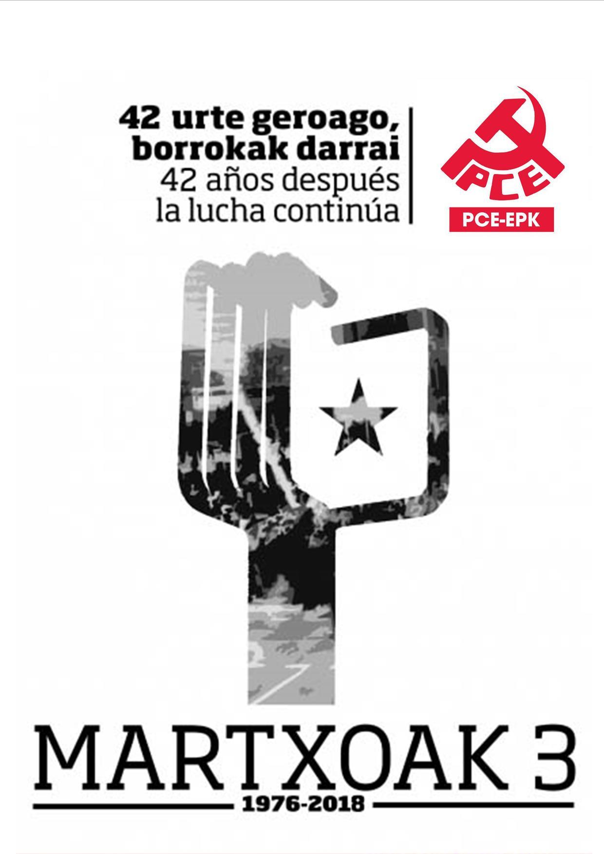 Actos de recuerdo y homenaje a los asesinados en el 3 de Marzo en Gasteiz.