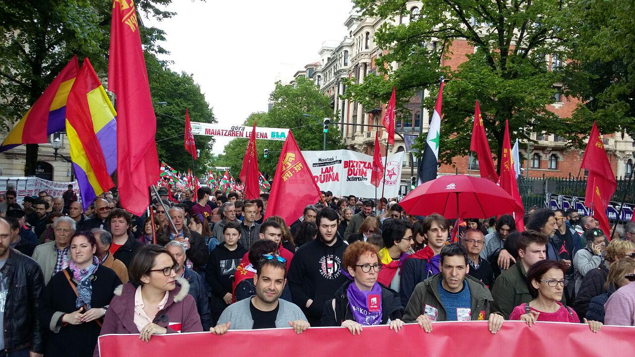 Imágenes del 1º de Mayo. Bilbao, Donostia, Gasteiz y Pamplona.