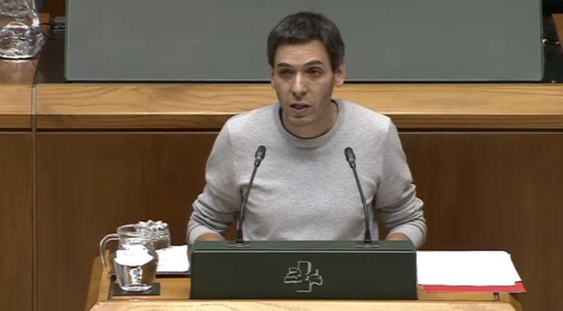 """Jon Hernández: """"la precariedad laboral en las obras del TAV es absolutamente inaceptable"""""""