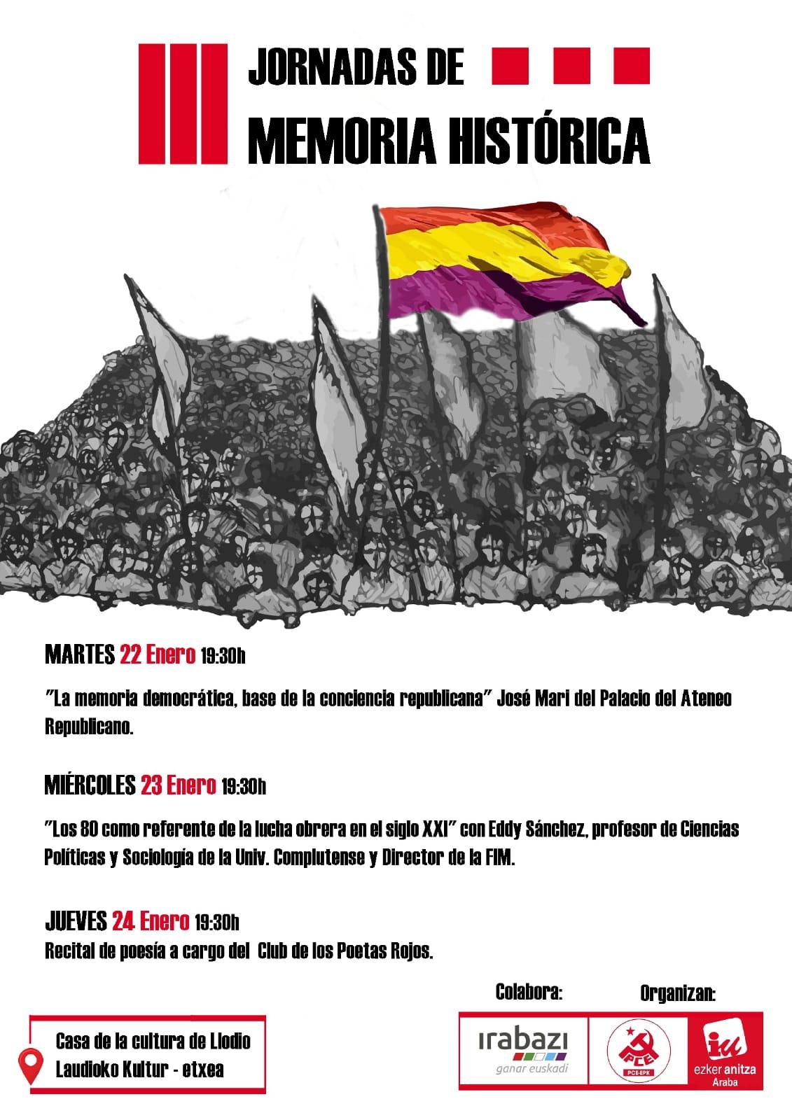 III Jornadas de Memoria Histórica en LLodio