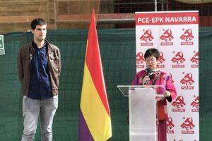 El horizonte de las izquierdas. Isabel Burbano y Carlos Guzmán, Secretaria Política y Secretario de Organización del PCE-EPK Navarra respectivamente.