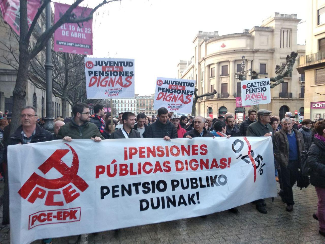 Acuerdo para la mejora de las Pensiones Públicas. La movilización y la acción política frente a la presión del poder económico.