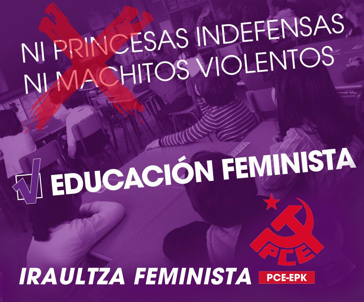 Azaroak 25ean hezkuntza feminista, iraultza feminista.