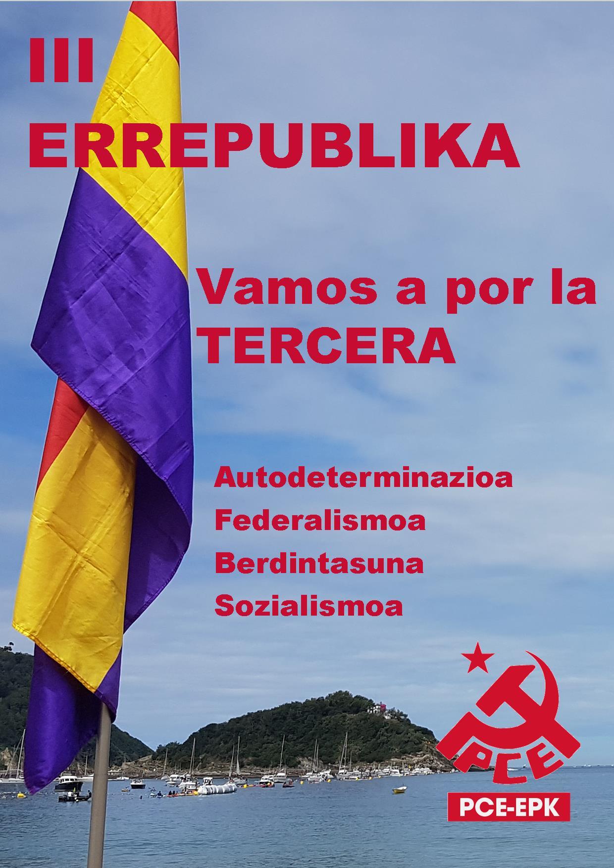 El PCE-EPK considera roto el pacto constitucional y llama a participar en la manifestación Republicana convocada para el 6 de Diciembre en Donostia.