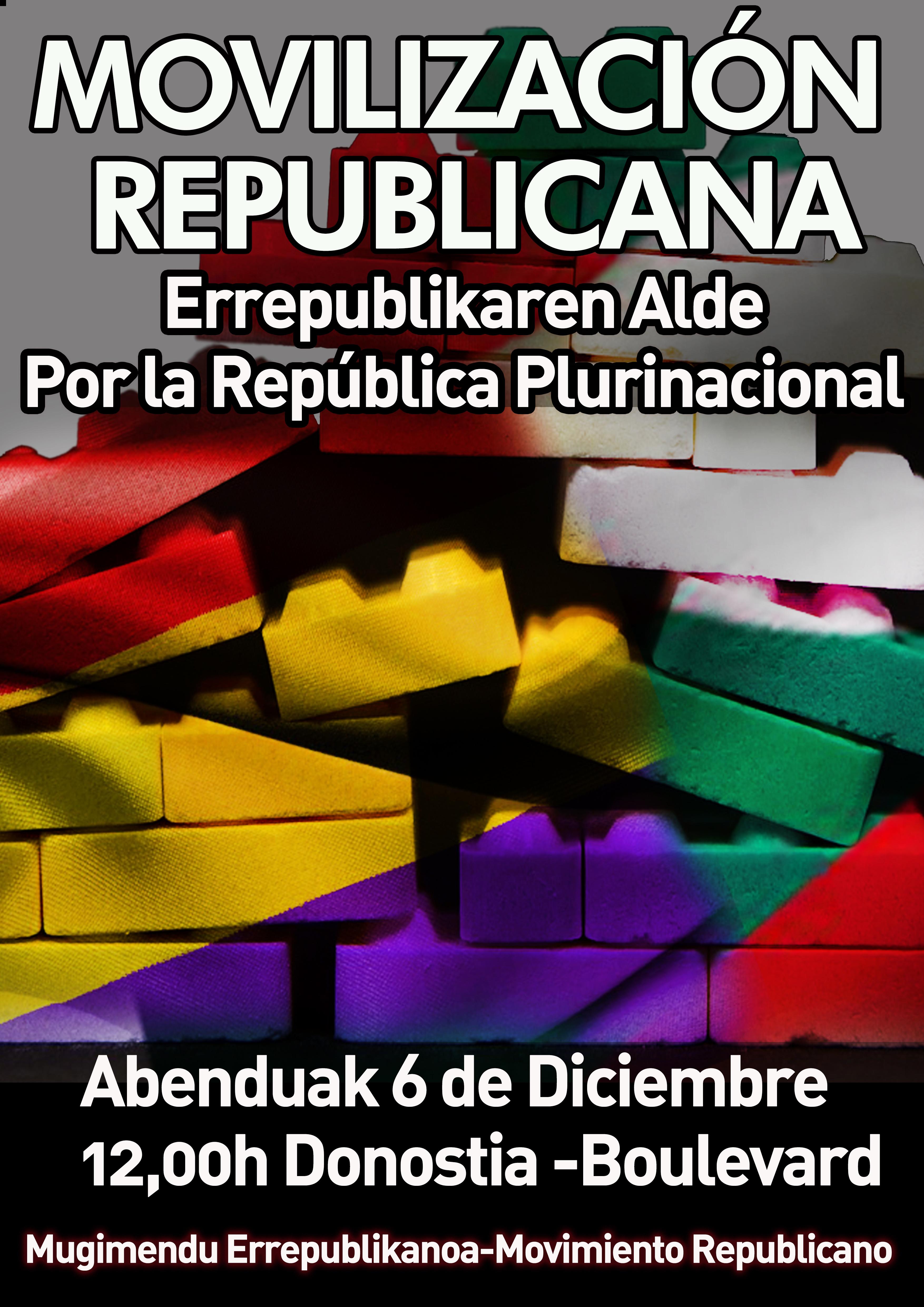 Mobilizazio errepublikanoa abenduaren 6an   Movilización republicana el 6 de Diciembre