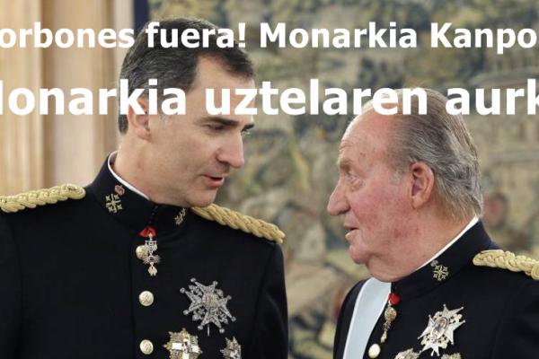 El PCE-EPK llama a movilizarse contra la monarquía corrupta y por la república este miércoles en las capitales vascas.