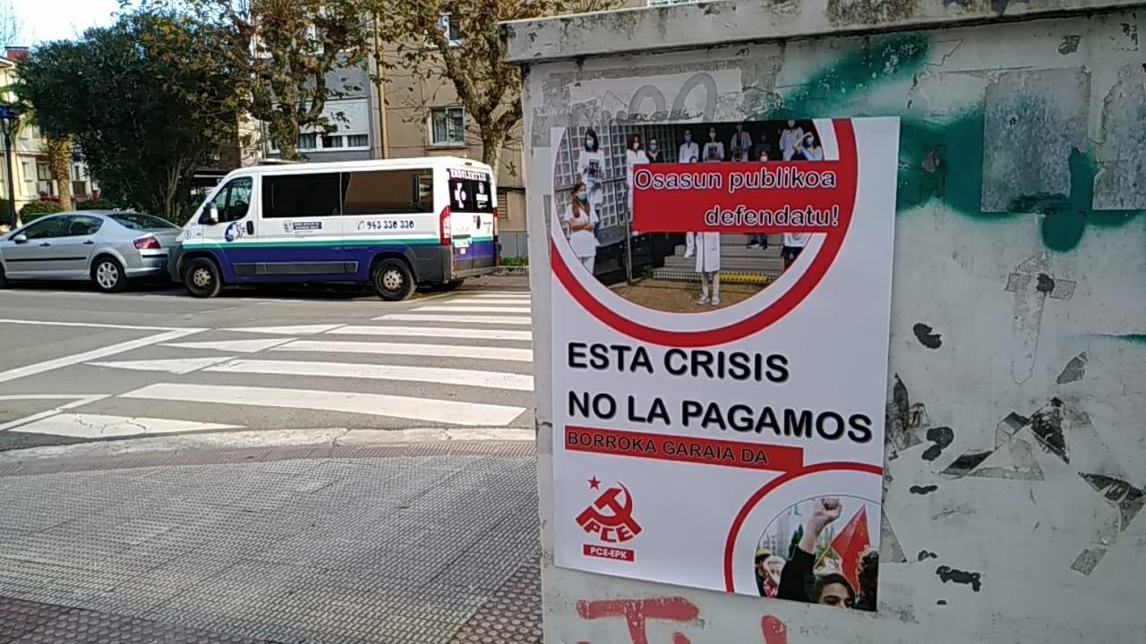 El PCE-EPK respalda las huelgas en Osakidetza, Servicios Sociales y cuidados.