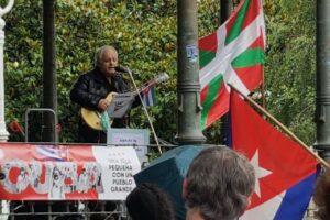 Movilizaciones populares de apoyo a Cuba: «Biden, entzun mundua: «Unblock Cuba!»: Bilbao, Donostia, Gasteiz e Iruñea.