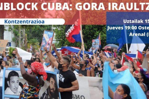 Concentraciones contra el bloqueo y la injerencia imperialista: siempre con Cuba y su revolución