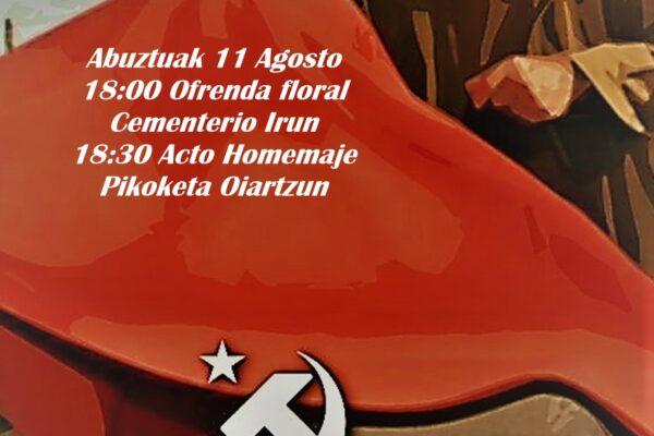 Acto en recuerdo a los fusilados en Pikoketa.