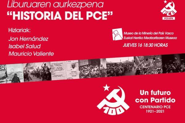 Actos centenario del Partido Comunista. Gallarta, Iruña y streaming.