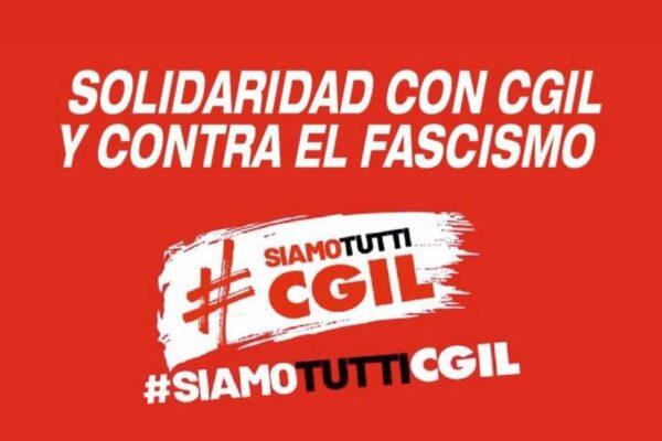 El PCE-EPK respalda las concentraciones de repulsa al ataque fascista contra la sede del Sindicato Italiano CGIL convocadas por CCOO.